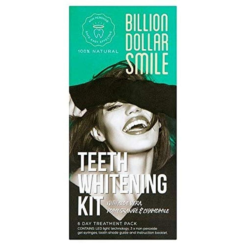 敷居決定するトンネル[Billion Dollar Smile ] キットを白く億ドルの笑顔歯 - Billion Dollar Smile Teeth Whitening Kit [並行輸入品]