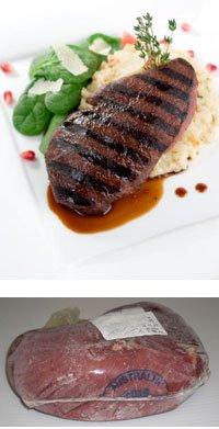 ダチョウ肉(オーストリッチ)ランプステーキ用 ブロック 約1kg 【販売元:The Meat Guy(ザ・ミートガイ)】