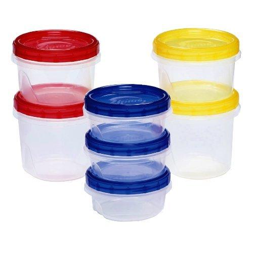 ジップロック スクリューロック 保存容器 カラーアソート 7個入 (青色3枚・赤色2枚・黄色2枚)