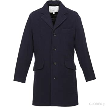 18oz Tailored Coat 18274-R F1338M: Dress Navy