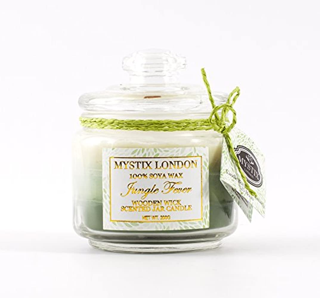 Mystix London | Jungle Fever Wooden Wick Scented Jar Candle 200g