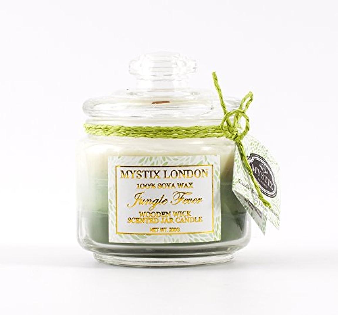 ありふれた可塑性信条Mystix London | Jungle Fever Wooden Wick Scented Jar Candle 200g