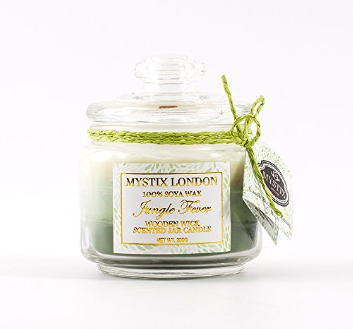 受ける燃やすフルートMystix London | Jungle Fever Wooden Wick Scented Jar Candle 200g