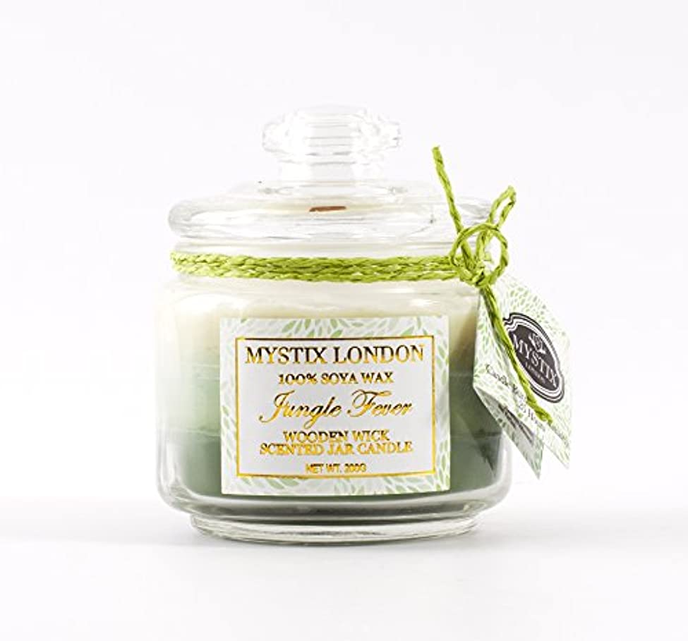 融合スキッパー終了するMystix London | Jungle Fever Wooden Wick Scented Jar Candle 200g