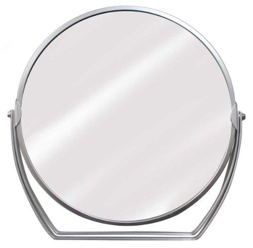 7倍拡大鏡付き スタンドミラー 丸(径198mm) YL-073