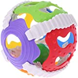 JAGENIE Baby Hand Bell Toy Rattles Sway Sound Grasp Ball Finger Activity Educational Toy,1PC,Random Delivery