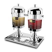 ポータブルステンレススチール飲料機2-6.3ガロンの商業飲料機 - 温かいと冷たい二重目的 - 純金属防水ベース