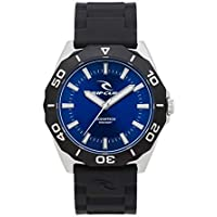 Rip Curl Men's Dvr Classic Rubber Watch Stainless Steel Pu Black