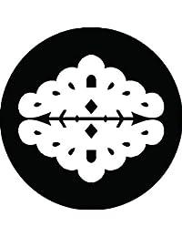 家紋シール 細川向かい松紋 布タイプ 直径40mm 6枚セット NS4-1266