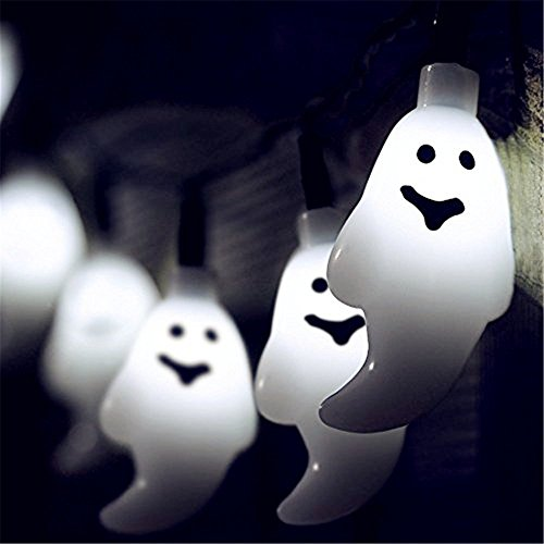 M&T TECH ソーラーストリングライト 幽霊 イルミネー...