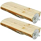 Niteangel Parrot Cage Perch, Wooden Platform for Birds (2 Packs)