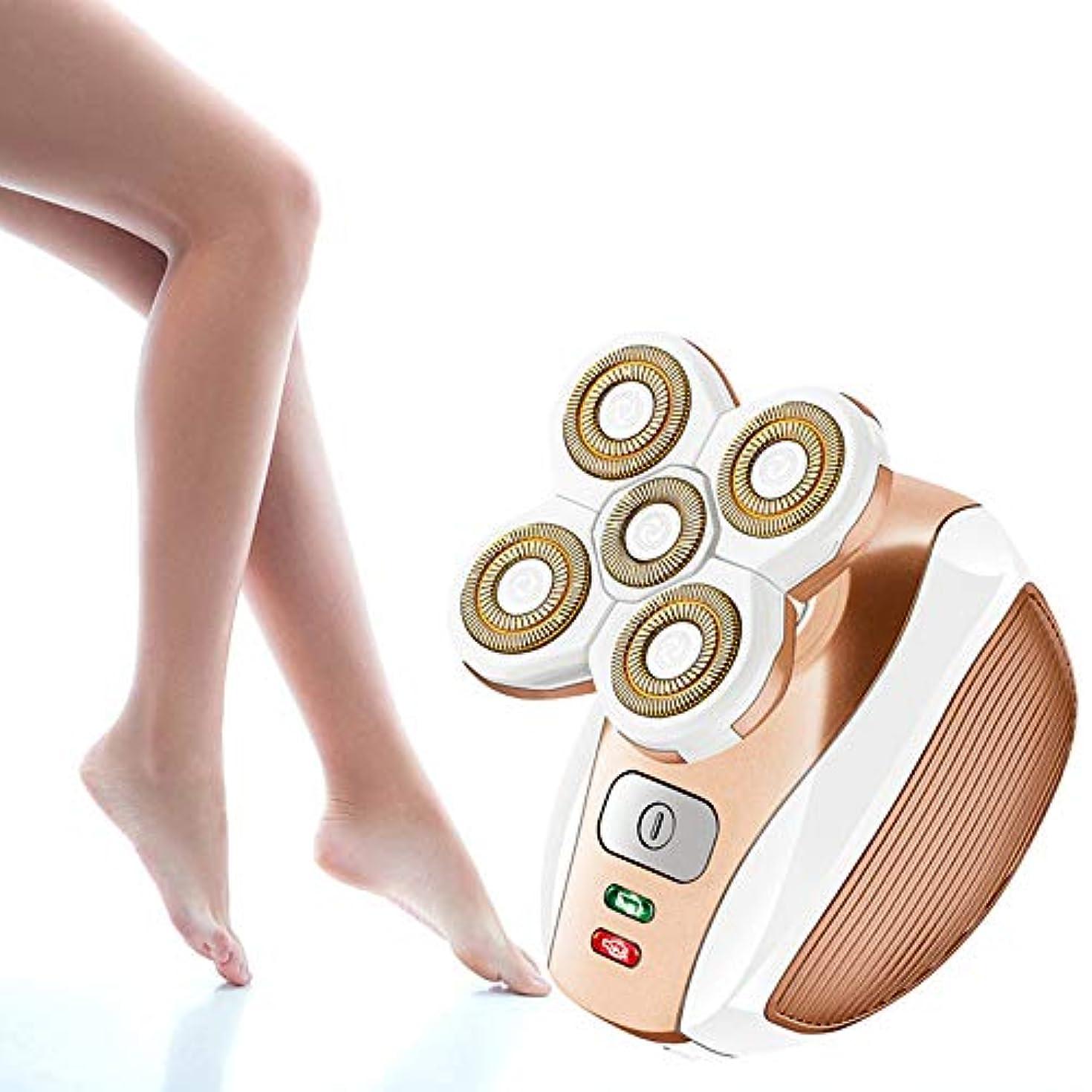 女性の痛みのない電気かみそり脱毛、女性の脚、顔の唇、ビキニエリア、充電可能、掃除が簡単な女性用のコードレスシェーバー