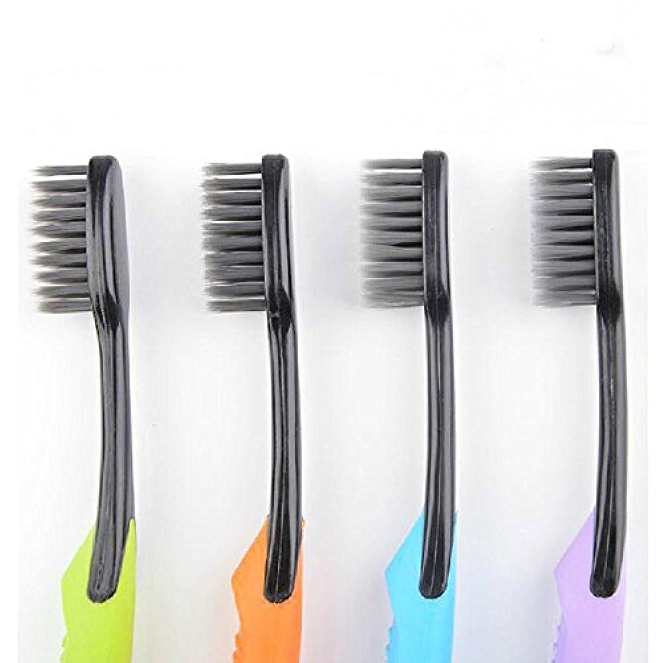無許可周り出身地Cand Ultra Soft Adult Toothbrush, Bamboo Charcoal Bristle, Pack of 4 by Cand