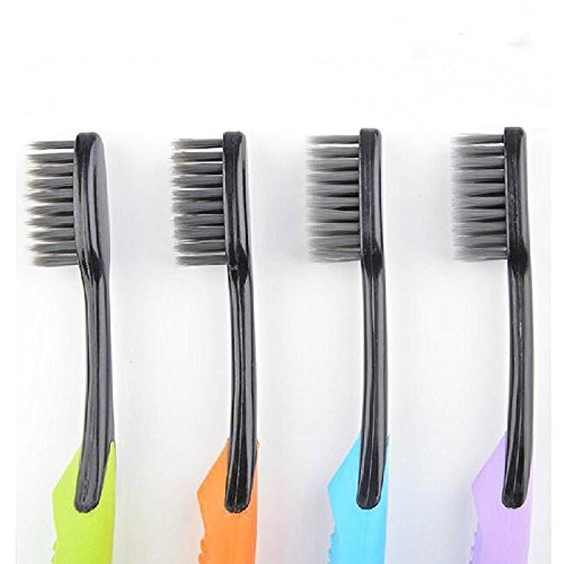 うるさい真向こうストレスの多いCand Ultra Soft Adult Toothbrush, Bamboo Charcoal Bristle, Pack of 4 by Cand
