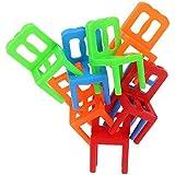 1st market プレミアム品質1セットプラスチック椅子スタッキングバランス玩具知能多人数バランスゲーム子供デスクプレイゲームのおもちゃ子供子供男の子女の子大人ランダムカラー