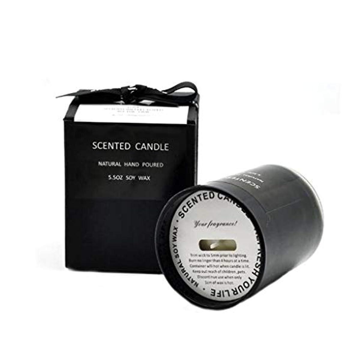 受粉するキャラクター歯科のキャンドル、中立黒いガラス蝋燭、ギフト用の箱が付いている大豆のワックスの無煙アロマセラピーの蝋燭