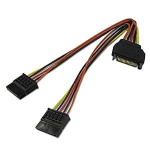 AINEX シリアルATA用二股電源ケーブル [ 15cm ] S2-1501SAB