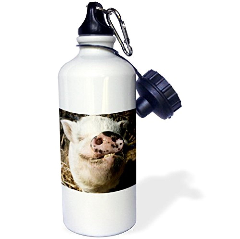 ローズWB _ 92681 _ 1ペットPot Bellied Pig、ファーム動物、新しいmexico-us32 jmr0497-julien McRobertsスポーツウォーターボトル、21オンス、ホワイト
