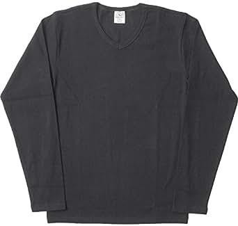 AVIREX デイリー Vネック ロングスリーブ Tシャツ #6153480 Sブラック