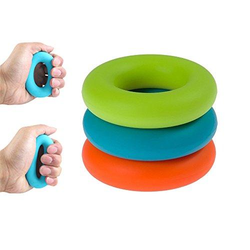 Minidivaシリコン製ハンドグリップリング握力 トレーニング- 異なる抵抗レベル三つ30lbs,40lbsと50lbs - 前腕/手首強化、ストレス解消 3個セット 握力強化 男女兼用