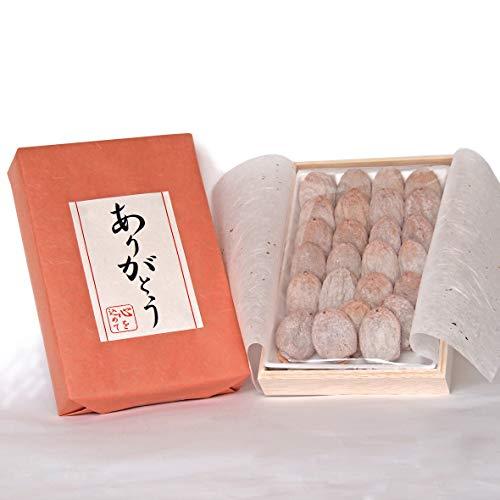 お祝い 贈答 ギフト プレゼント 市田柿 干し柿 木箱入 ありがとう メッセージ ラッピング (オレンジ)