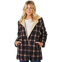 Rollas Women's Check Sherpa Coat