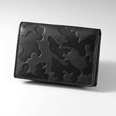 Camouflage Leather Card Case: Black