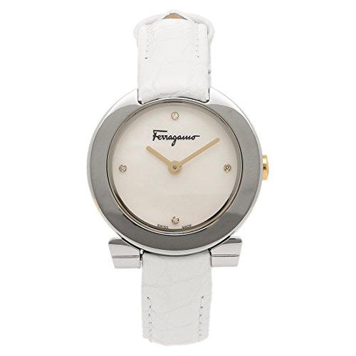 サルヴァトーレフェラガモ 時計 Salvatore Ferragamo FAP010016 ガンチーニ レディース腕時計 ウォッチ ホワイトパール/シルバー/ホワイト [並行輸入品]