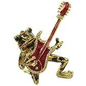 カエルグッズ*カエルのジュエリーボックス・ノリノリでギターを弾いています