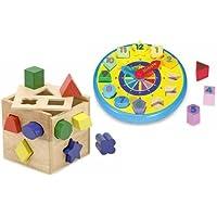 メリッサand Doug Shape Sorting Clock & Shape Sorting Cube