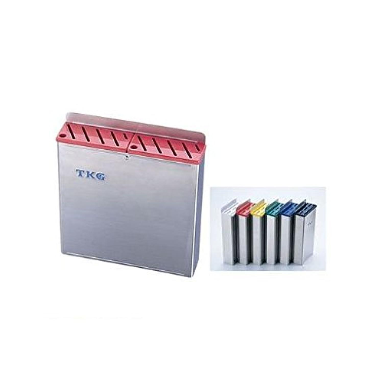 EL61014 TKG18-8プラ板付カラーナイフラック 大 Aタイプ 青