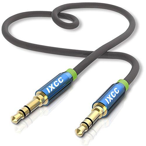 iXCC 3.5mm ステレオミニプラグ オーディオケーブル AUX接続 高音質 金メッキ仕様 ヘッドホン イヤホン スマホ カーステレオに対応 1m 24ヶ月保証※10000件以上の好評+二年間連続米国Amazon売れ筋ランキング第一位※