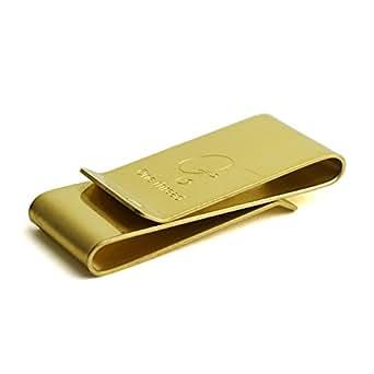 (ワンスレッド) One thread マネークリップ 両面 カードクリップ ワイド ダブルクリップ 真鍮 ソリッドブラス 日本製 金色 無垢 ゴールドカラー OT-MC-W