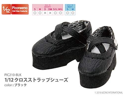 ピコニーモ用 1/12 クロスストラップシューズ ブラック (ドール用)