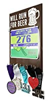 Will Run For Beer–Hooked On Your Race Bibs andフィニッシャMedals
