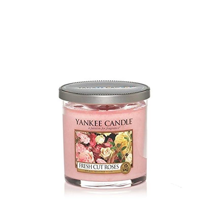 普通に評価する動機付けるYankee Candles Small Pillar Candle - Fresh Cut Roses (Pack of 2) - ヤンキーキャンドルの小さな柱キャンドル - 新鮮なバラ切り花 (x2) [並行輸入品]
