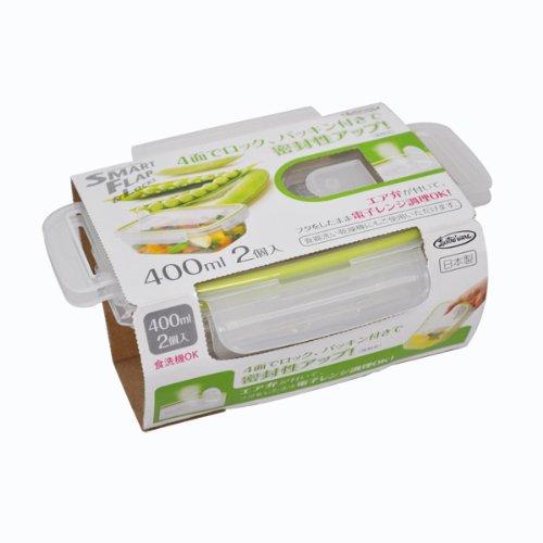 岩崎 食品保存容器 グリーン 400ml (S) 電子レンジ対応 スマートフ...