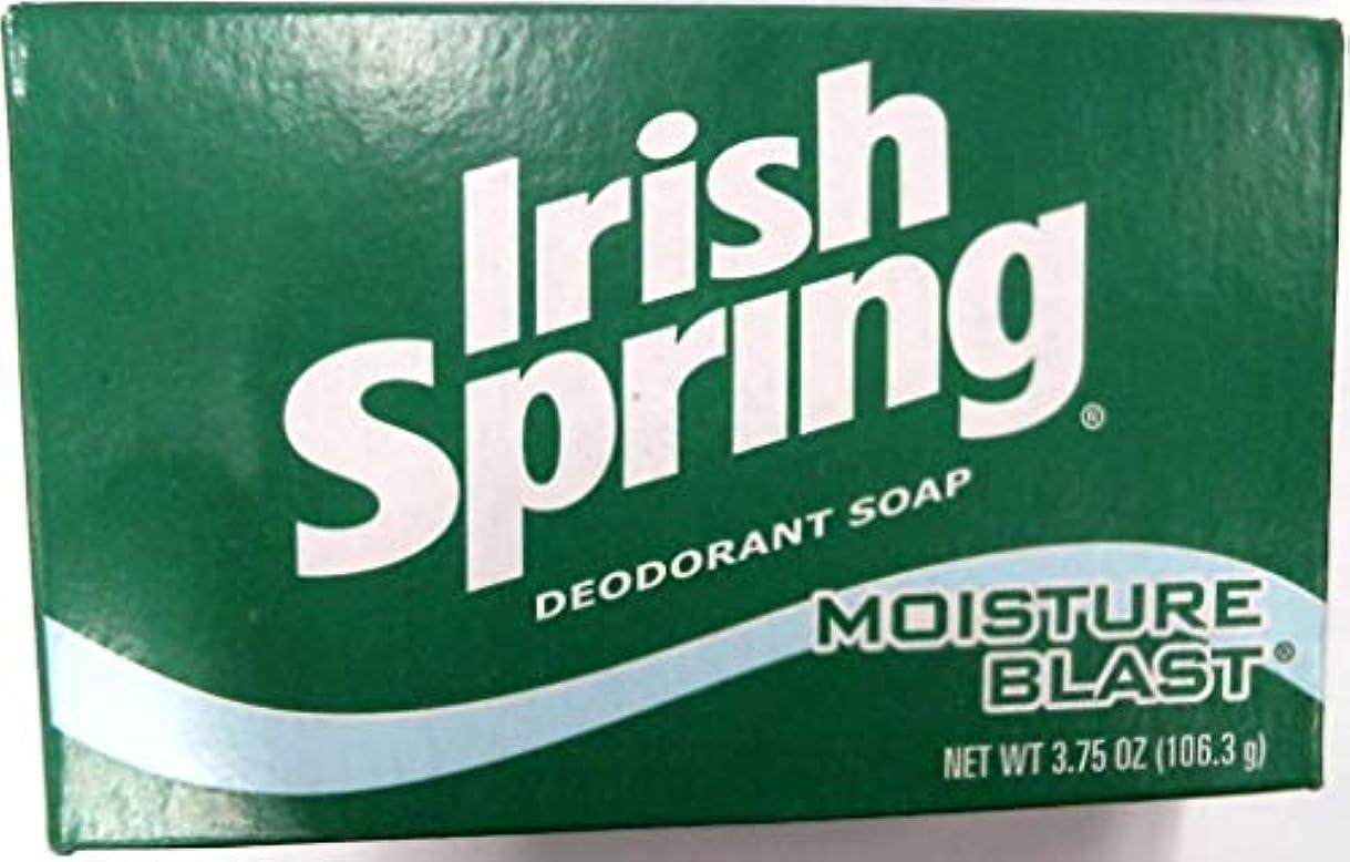 抗生物質旅細菌Irish Spring デオドラントバスソープモイスチャーブラスト、3.75オズ各3バーパック(18バリューパック)54本のバーの合計