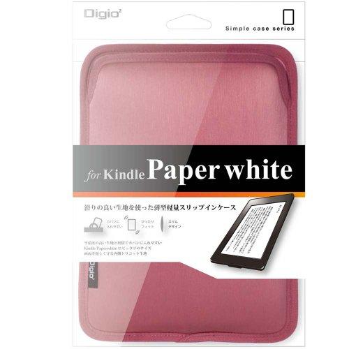 Digio2 電子書籍リーダー用 スリップインケース (Kindle Paperwhite対応) ピンク TBC-KPW1203P