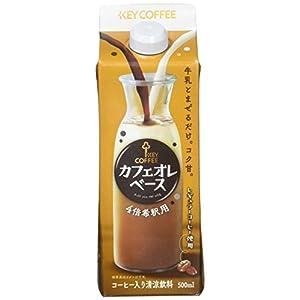 キーコーヒー カフェオレベース 500ml×6本