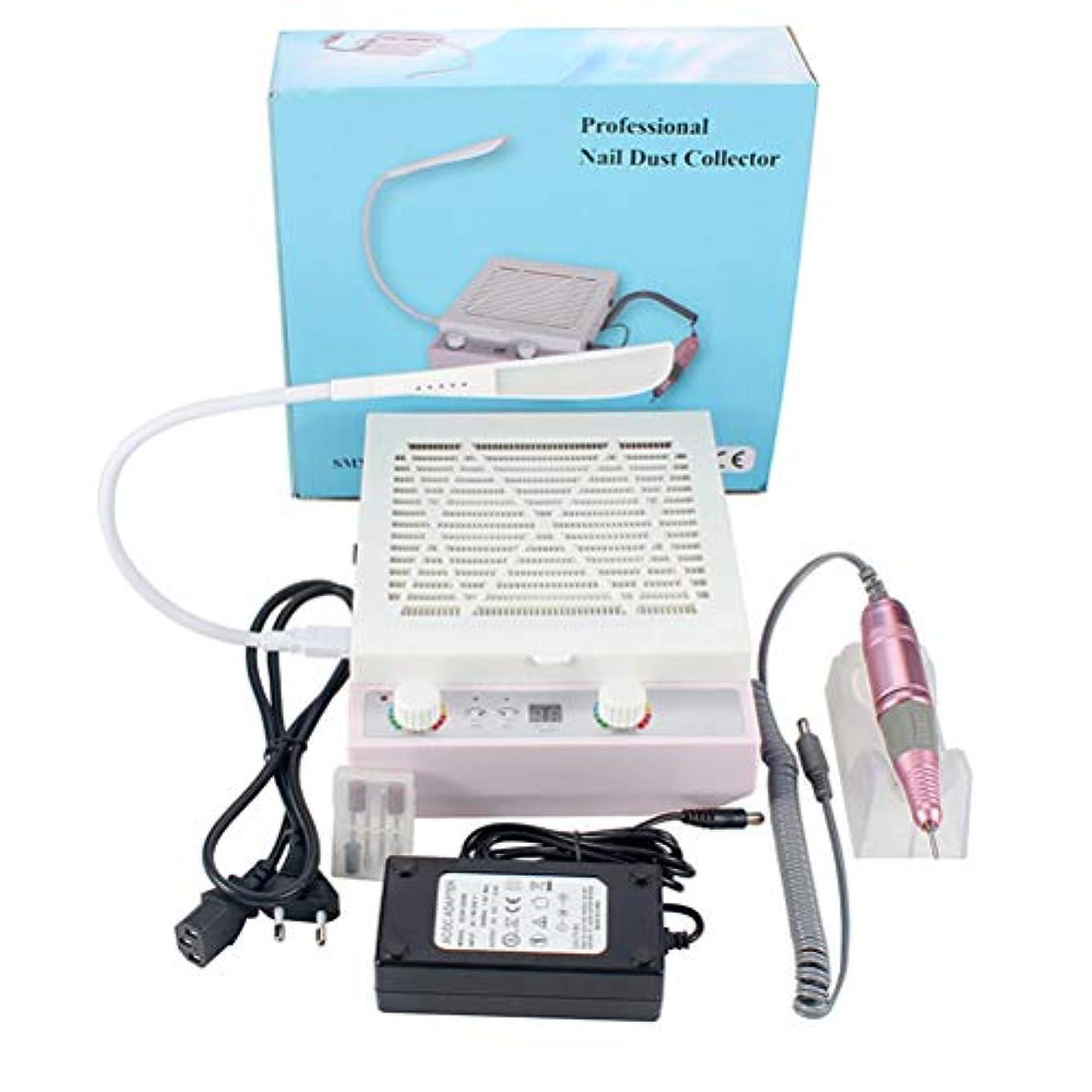 コンドーム本会議落ち着かないサロンホームマニキュア用LEDディスプレイとLEDライトと研磨ペン45Wハイパワーと3-IN-1ネイル集塵機