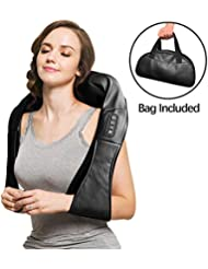 Neck and Shoulder Massager, Shiatsu Neck & Back Massager with Heat, 3D Deep Tissue Kneading Electric Massage Machine...