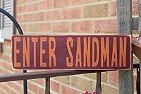 PotteLove Enter Sandman 木製看板 バージニアテック バージニア工科大学 フットボールレーンスタジウム 秋のサイン バージニア工科大学 ホーキーズ 家族 大学 フットボール