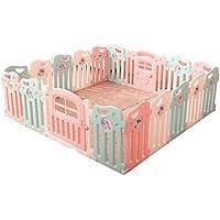 赤ちゃんの遊び場フェンス子供の安全な遊び場の男の子と女の子の安全活動ホームプレイハウス赤ん坊の幼児クロールマット (サイズ さいず : 16+2)