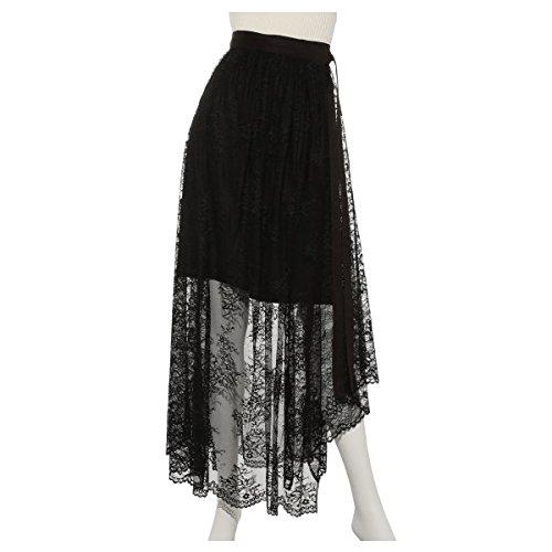 emmi atelier エミ レースラップスカート 13wfs172042 BLACK 0 -