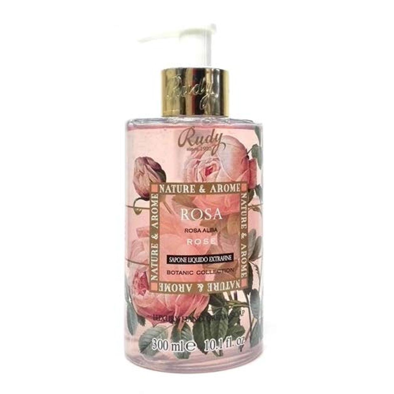 痛み持参不変RUDY Nature&Arome SERIES ルディ ナチュール&アロマ Liquid Soap リキッドソープ ローズ
