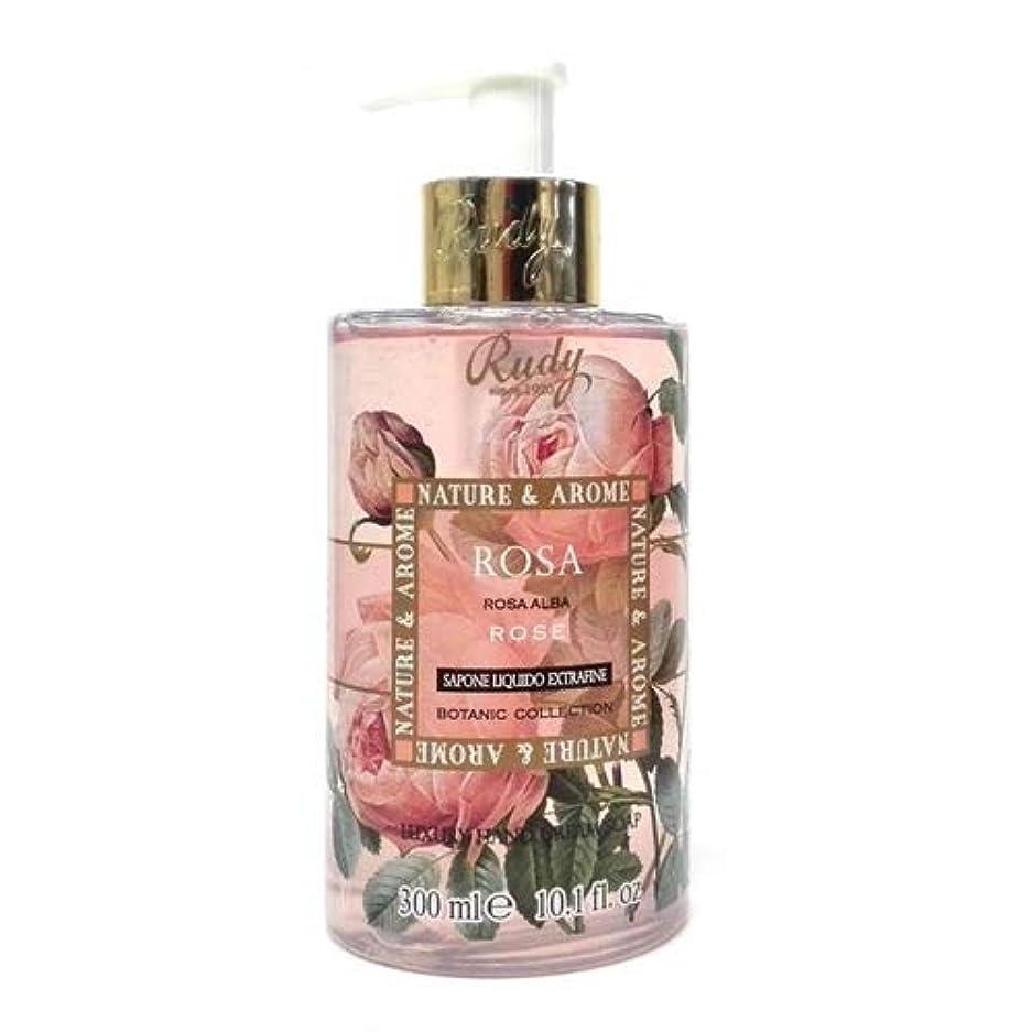 ガラスかび臭い引退したRUDY Nature&Arome SERIES ルディ ナチュール&アロマ Liquid Soap リキッドソープ ローズ