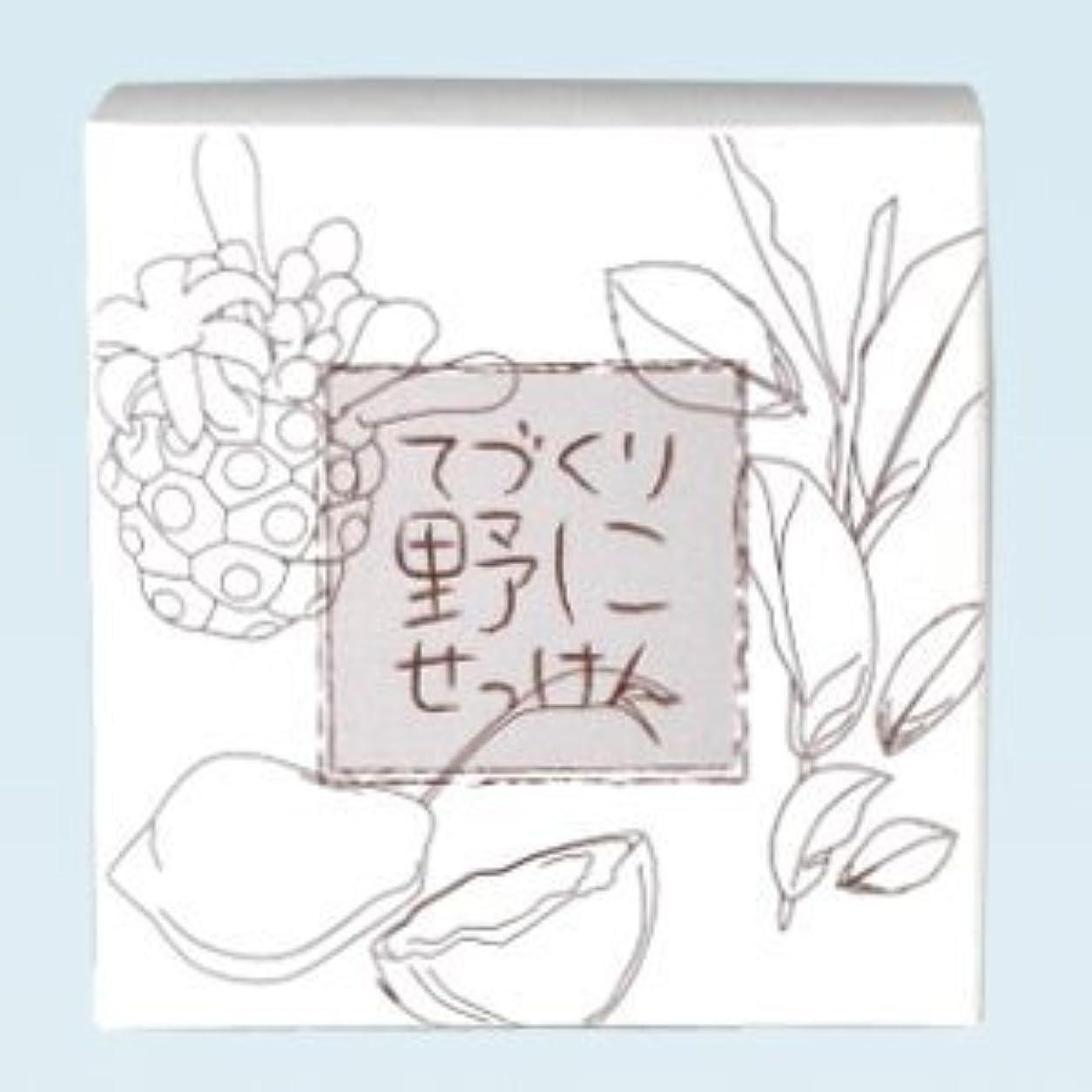 リットル特派員チャンバー緑茶 ノニ石鹸 てづくり野にせっけん(115g)