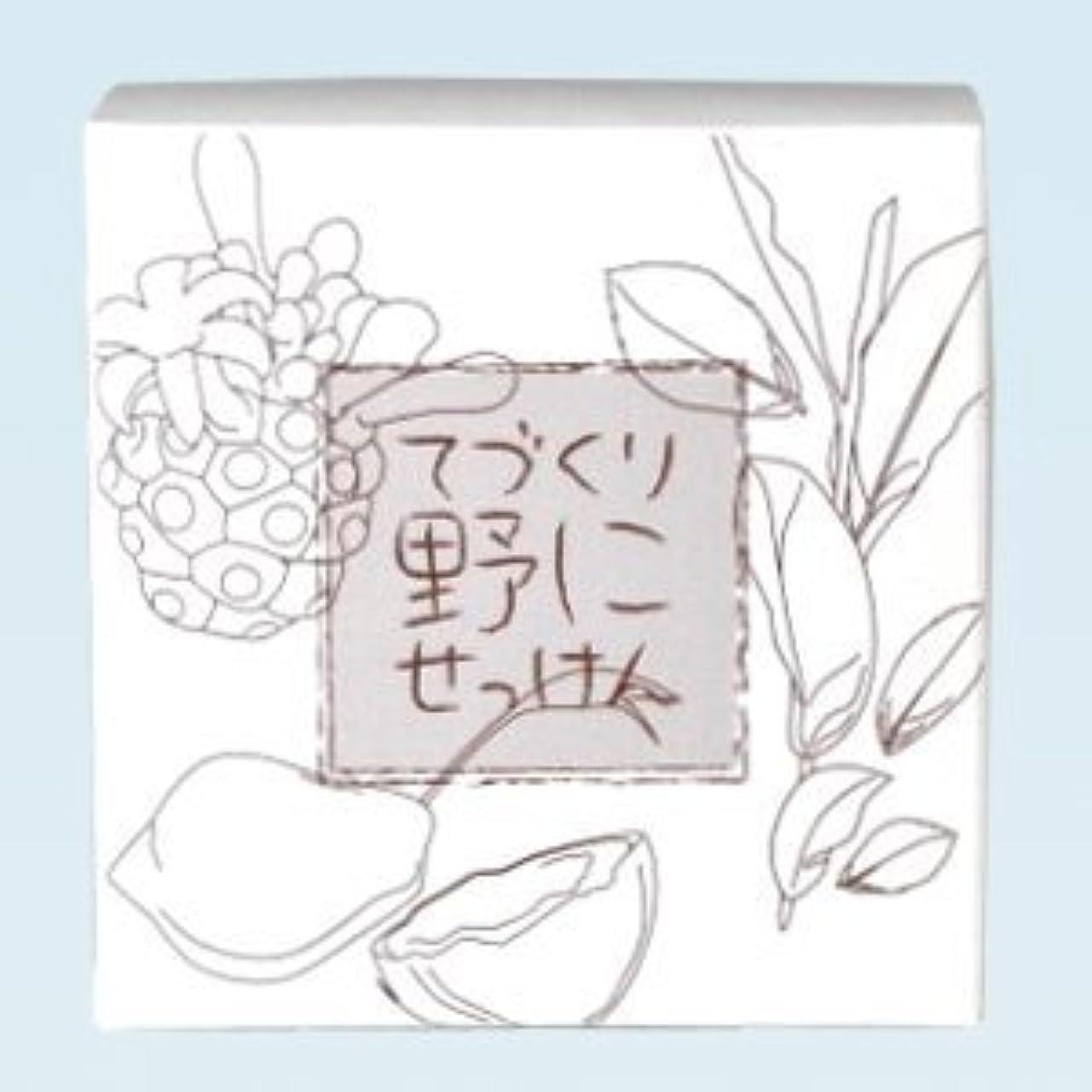 消化入植者疎外する緑茶 ノニ石鹸 てづくり野にせっけん(115g)