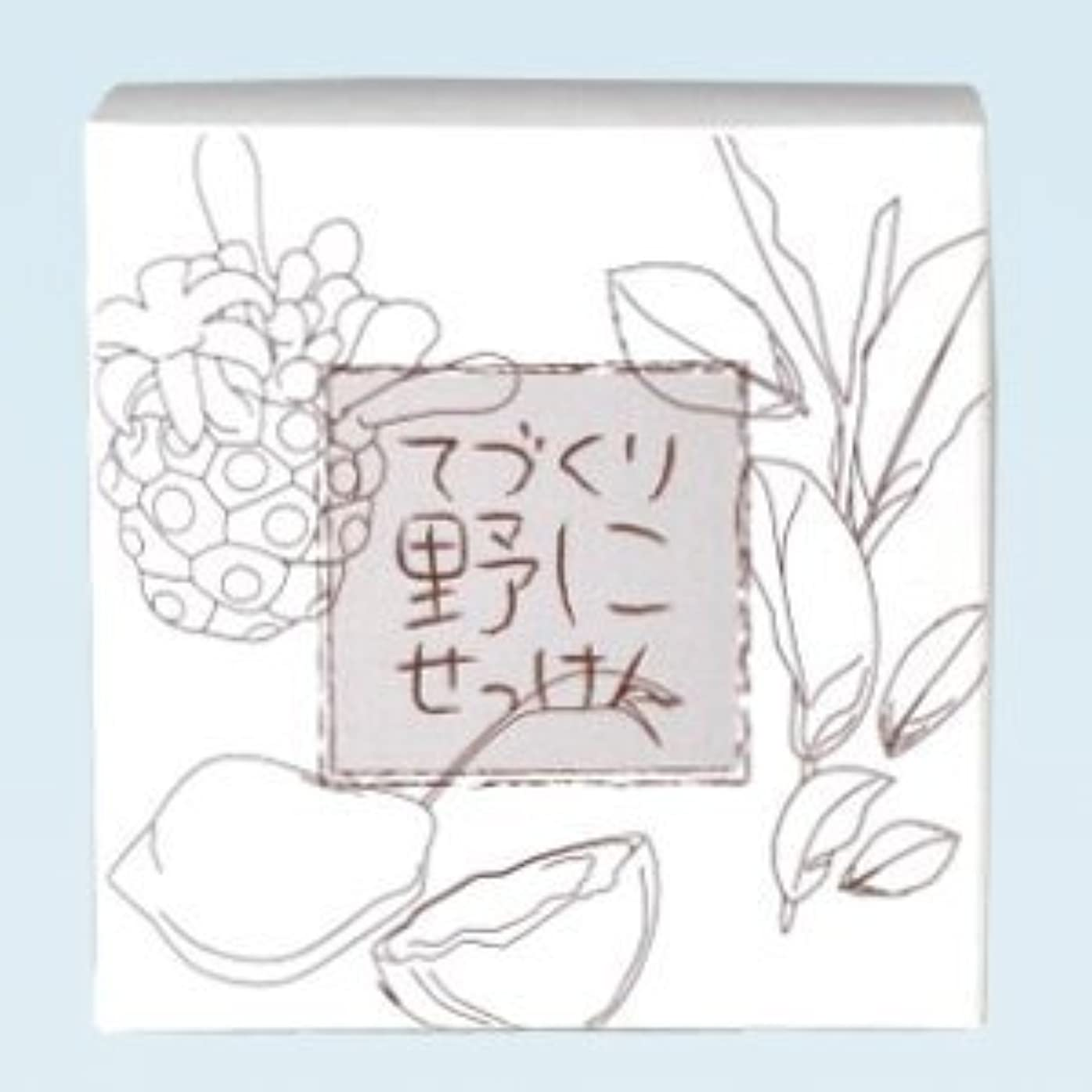 労働者先に篭緑茶 ノニ石鹸 てづくり野にせっけん(115g)